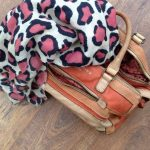 Duck Soup Cashmere Leopard Print / Lieberskind Leather Bag
